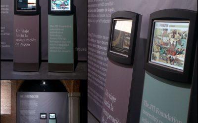"""Tótem interactivo para la exposición """"Un viaje hacia la recuperación de Japón"""""""