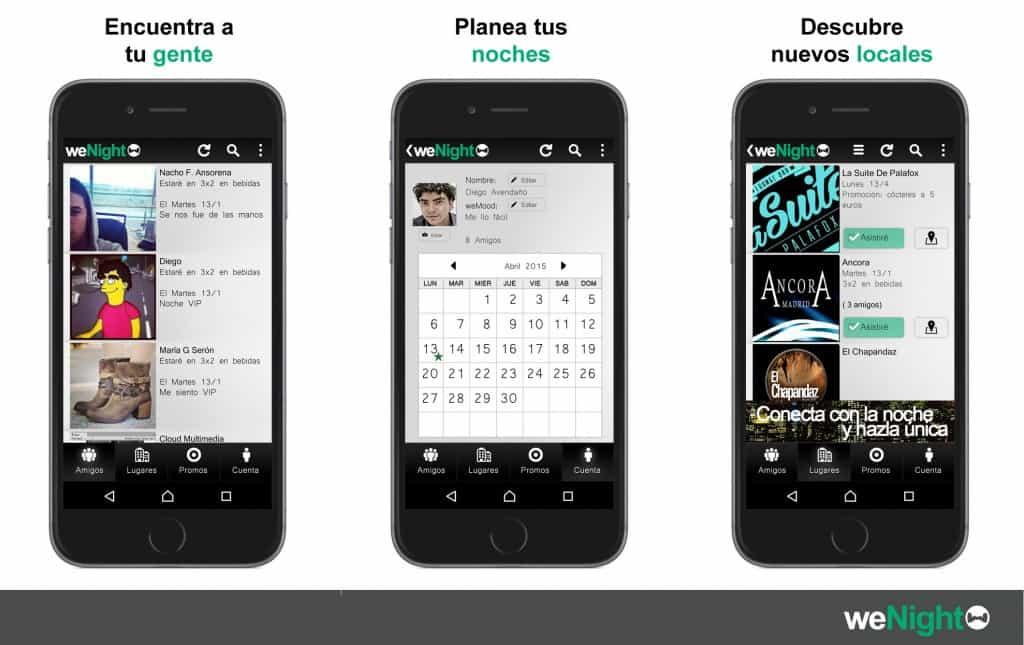 weNight: App de Ocio Nocturno