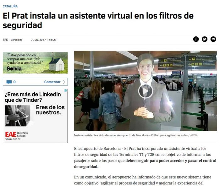 Asistente Virtual Aeropuerto Barcelona el Prat Cubensis Project