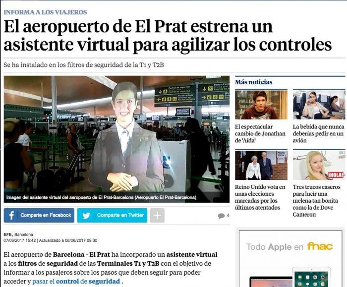 Asistente Virtual para agilizar los controles de seguridad del Aeropuerto Barcelona el Prat Cubensis Project