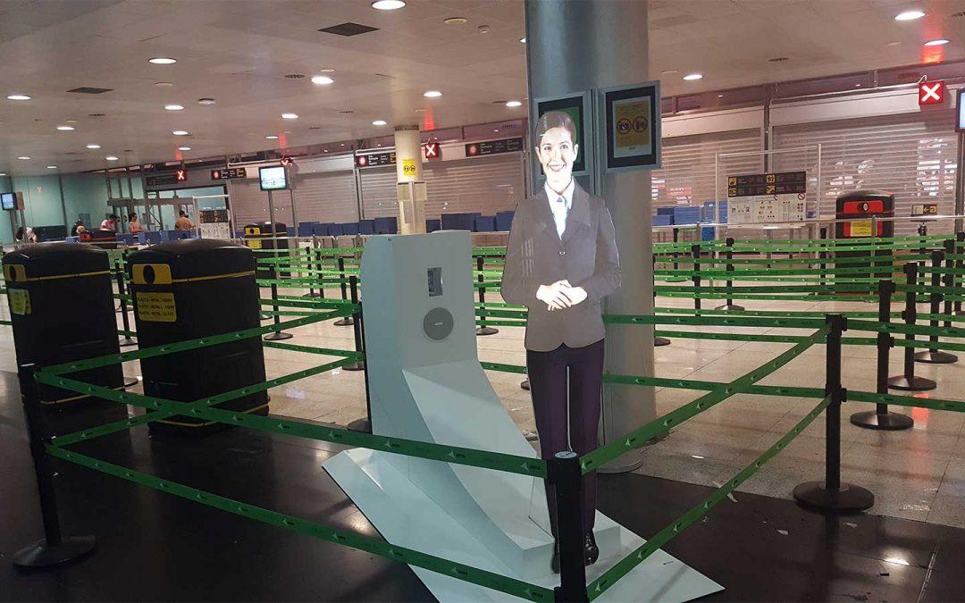 Azafata Virtual Aeropuerto de Barcelona El-Prat
