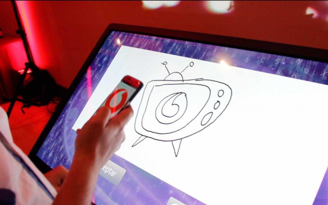 Libro de firmas táctil  Kick Off Vodafone