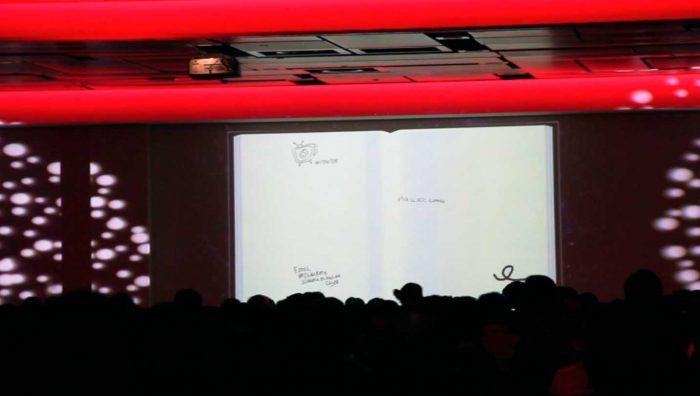 Libro de firmas táctil de Cubensis Project se proyecta también en las pantallas