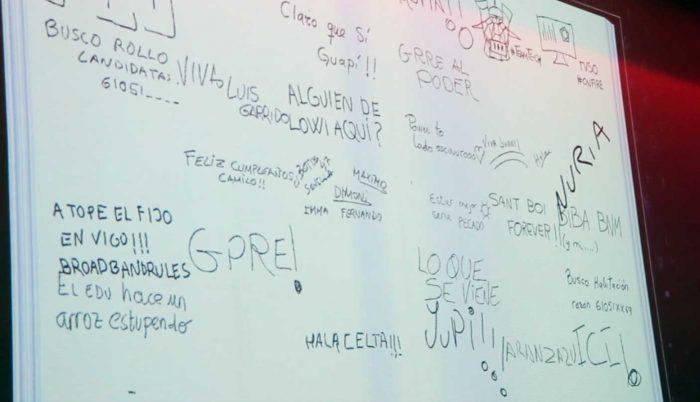 Libro de firmas táctil de Cubensis Project en el evento de Vodafone