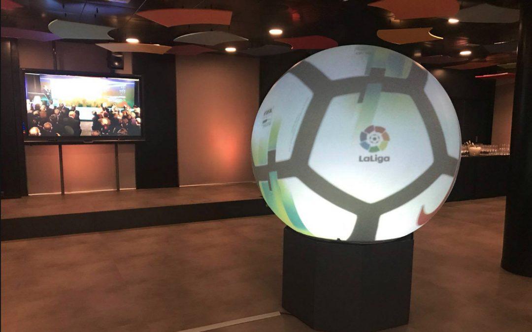 Puffersphere en la nueva sede de LaLiga